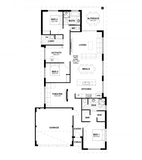 Floorplan for The Ashcroft