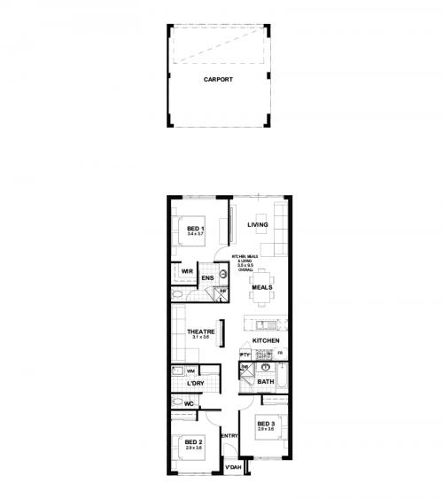 Floorplan for The Ashford