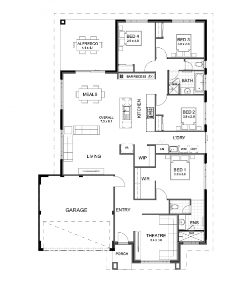 Floorplan for Lot 132 Yacht Way, Two Rocks