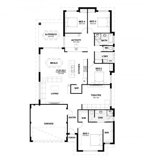 Floorplan for The Carlton