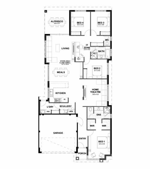 Floorplan for The Chloe