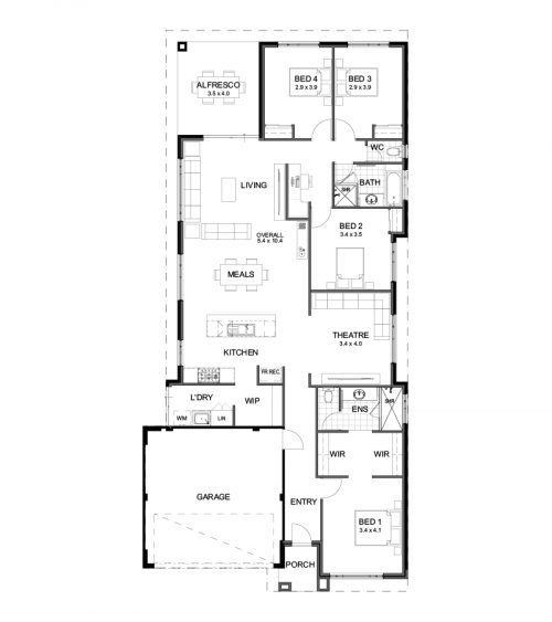 Floorplan for Lot 370 Mosaic Road, Alkimos