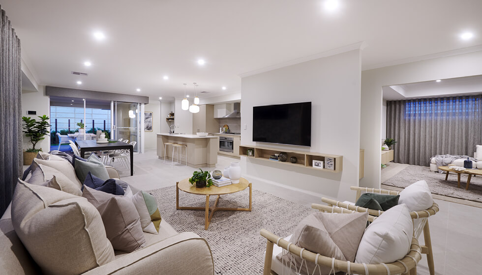 Photo of a display home living room