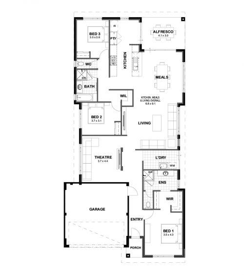 Floorplan for Lot 112 Barwon Place, Yanchep