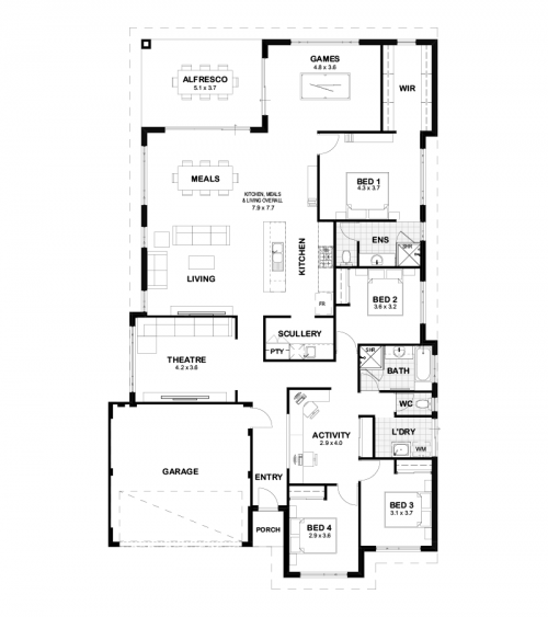 Floorplan for Lot 1359 Pandora Drive, Jindalee