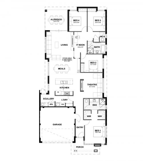 Floorplan for The Felix