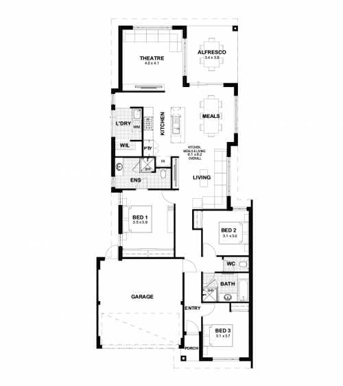 Floorplan for Lot 785 Slope Way, Yanchep