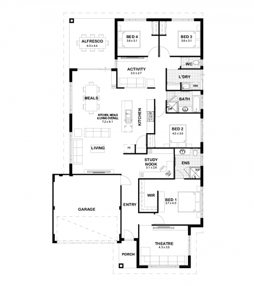 Floorplan for The Fitzroy
