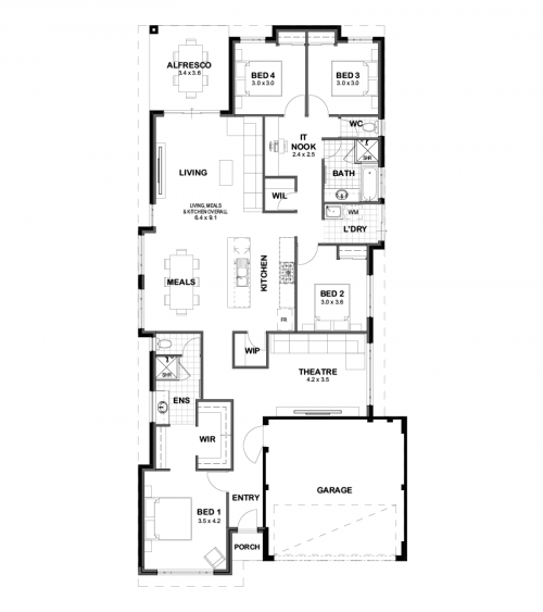 Floorplan for Lot 4520 Beautiful Road, Banksia Grove