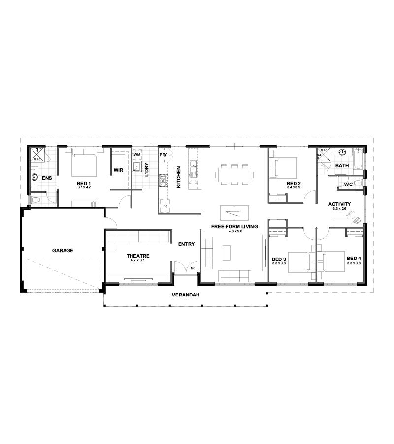 The Harvey floor plan