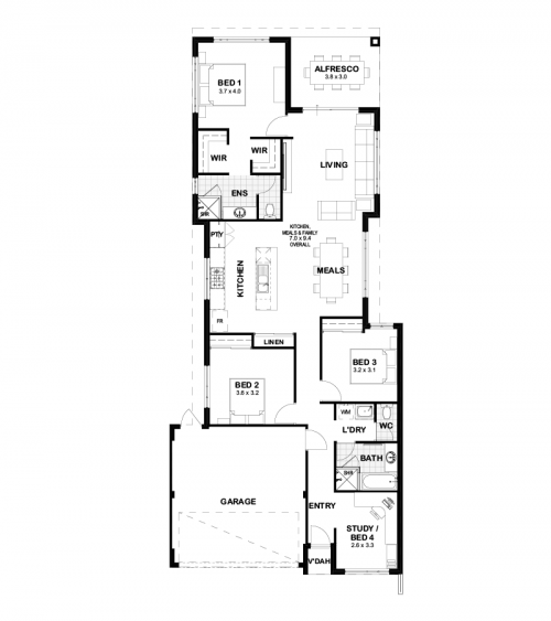 Floorplan for Lot 443 Tailspin Road, Brabham