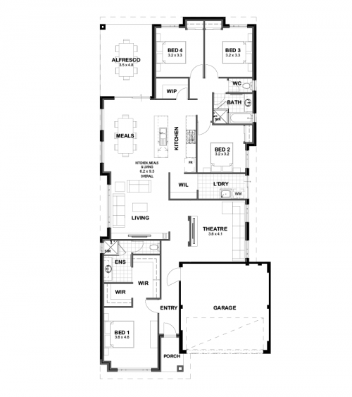 Floorplan for The Kingsford