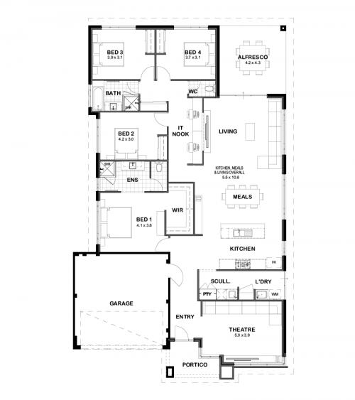 Floorplan for The Mason