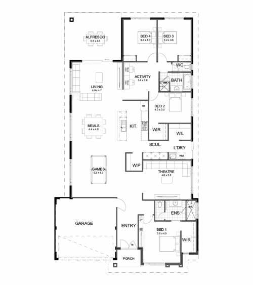 Floorplan for Lot 4681 Dunlin Road, Banksia Grove