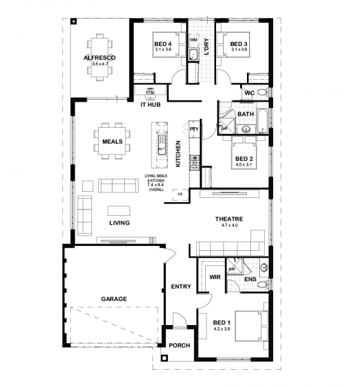 Floorplan for The Preston