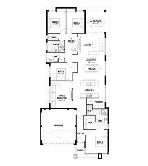 Floorplan for The Riley