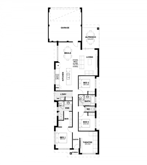 Floorplan for The Seaton