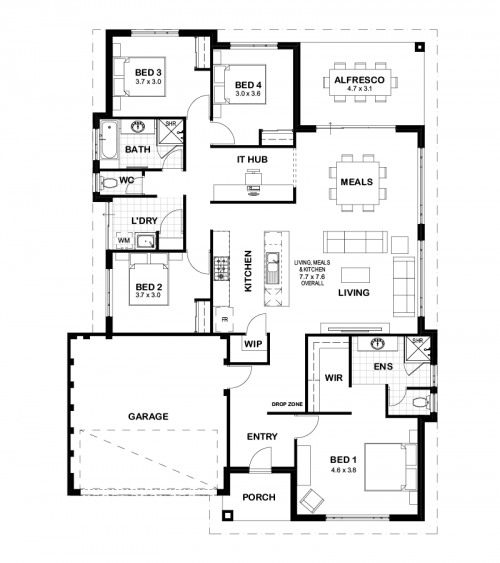 Floorplan for The Sorrento