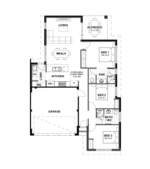 Floorplan for Lot 314 Kerridge Road, Byford