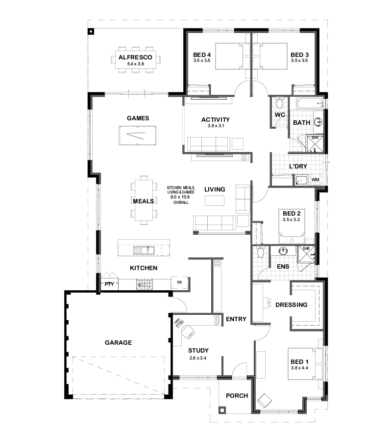 The Toorak house plan