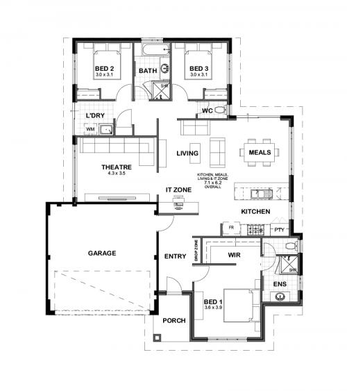 Floorplan for Lot 11 Oroya Close