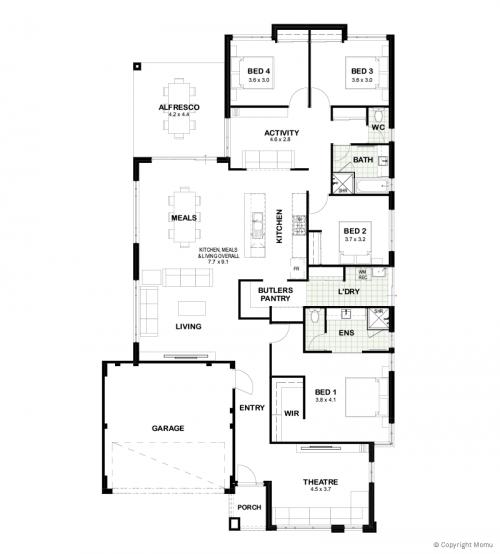 Floorplan for The Freddy