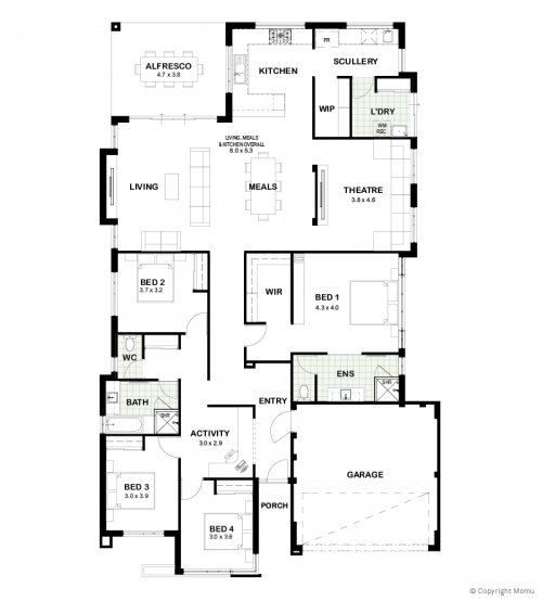 Floorplan for The Frankie