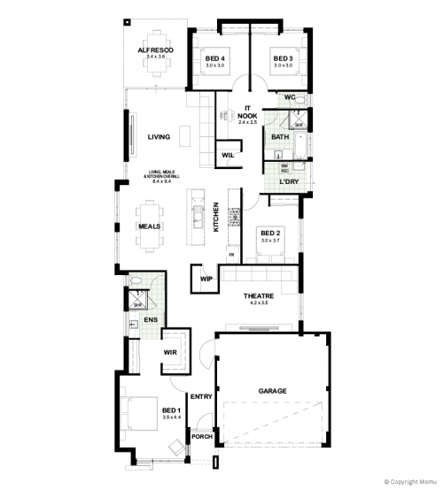 Floorplan for The Lily