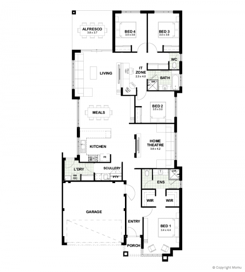 Floorplan for The Chloe
