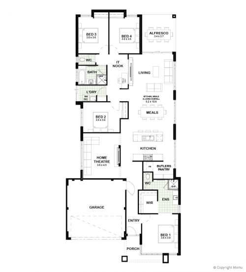 Floorplan for The Riley