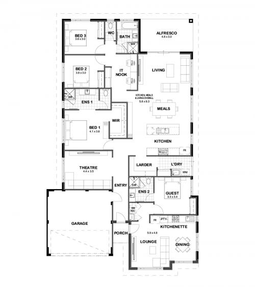 Floorplan for Lot 4334 Ladybird Street, Banksia Grove
