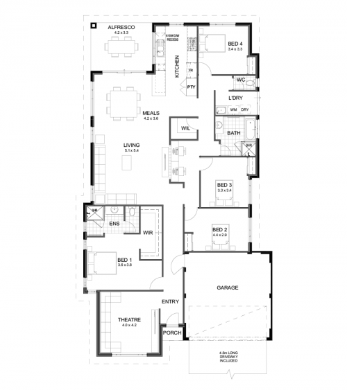 Floorplan for The Altona
