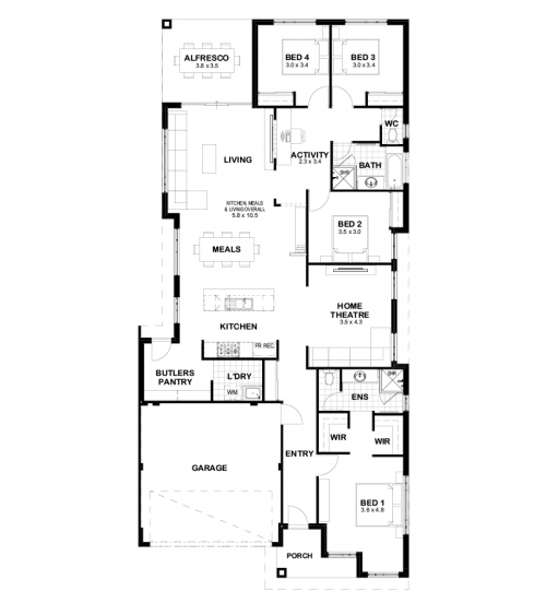 Floorplan for The Wakeley