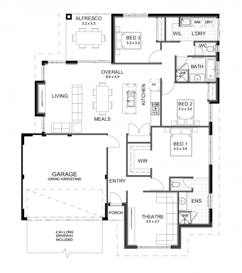 Floorplan for The Wilston