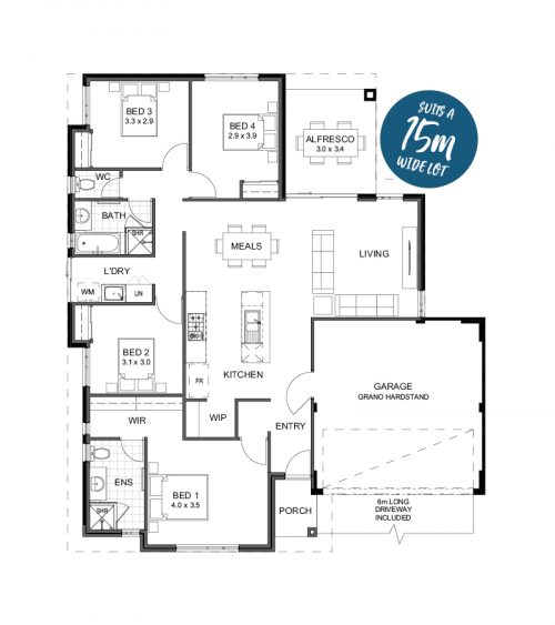 Floorplan for Lot 23 Crimson Way, Brabham
