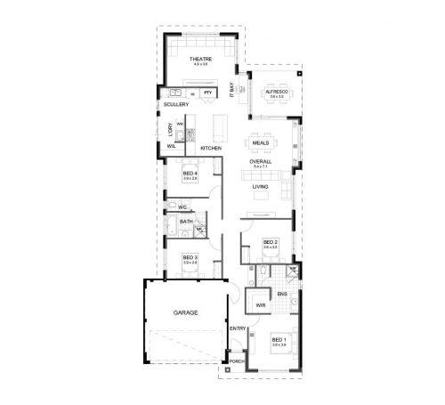 Floorplan for Lot 242 Asbury Road, Madora Bay