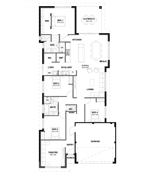 Floorplan for Lot 310 Castlemead Drive, Yanchep