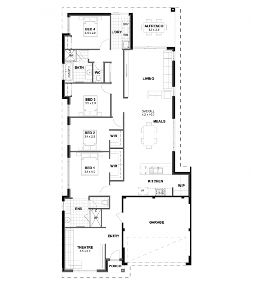 Floorplan for The Rockdale