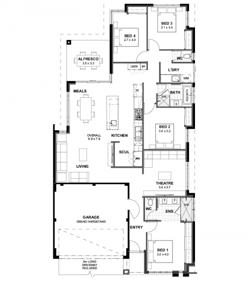 Floorplan for The Marbella