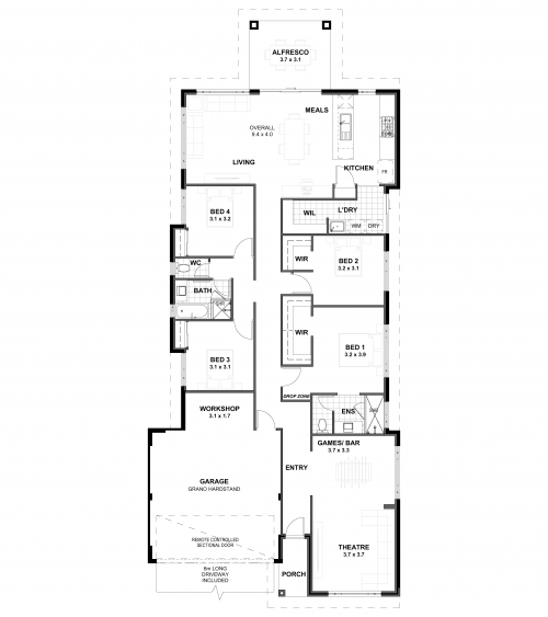 Floorplan for The Entertainer