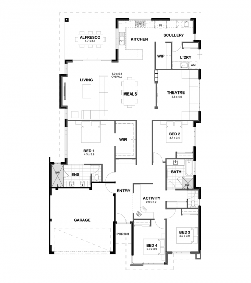 Floorplan for The Serenity