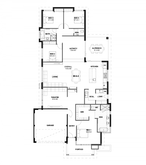 Floorplan for The Pinnacle
