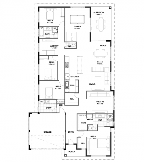 Floorplan for Lot 805 Etana Lane