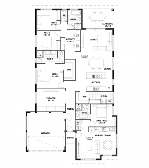 Floorplan for Lot 15 Citrus Street, Upper Swan