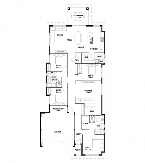 Floorplan for Lot 4578 Dancing Road, Banksia Grove