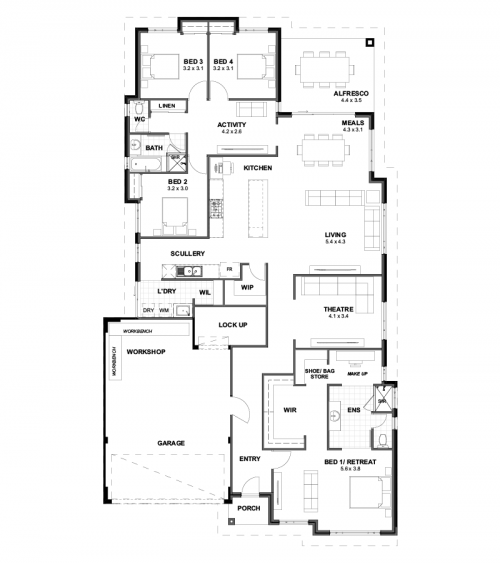 Floorplan for Lot 378 Archerfield Parkway, Bushmead