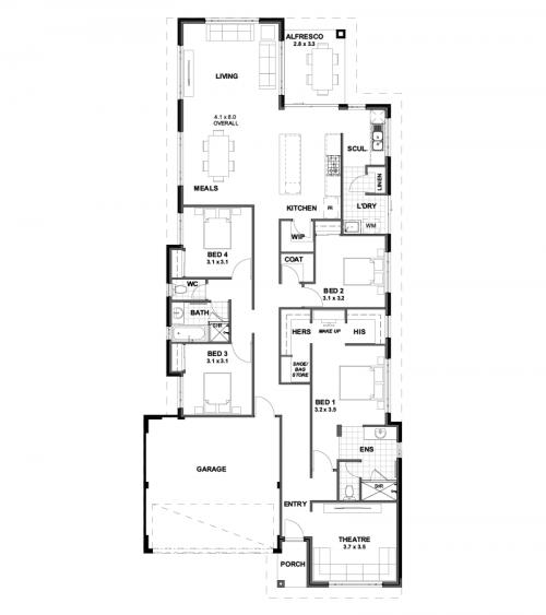 Floorplan for Lot 10180 Bloom Way, Ellenbrook