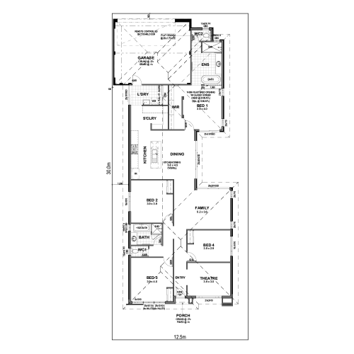 Floorplan for Lot 768 Lofter Lane, Yanchep