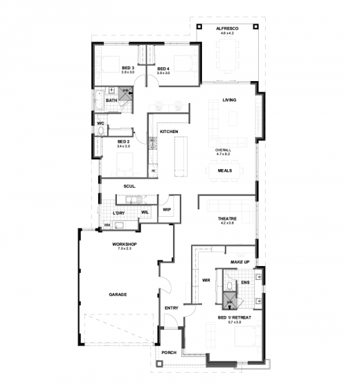 Floorplan for The Triumph